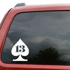 Lucky 13 Vinyl Decal Sticker Car Window Laptop Iphone Friday Good Luck Fortune