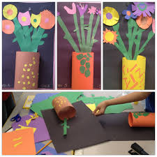 Spring / Mother's Day Flower art lesson - special ed elementary ...
