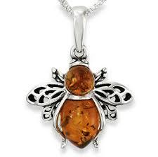 natural honey amber ble bee pendant