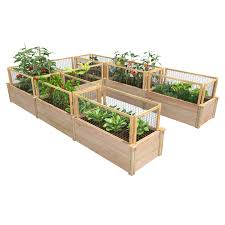 Greenes Fence Premium Cedar U Shaped Raised Garden Bed Walmart Com Walmart Com