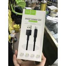 Cáp sạc Iphone đầy pin tự ngắt dây dù có đèn báo Hoco U47 NXG ...