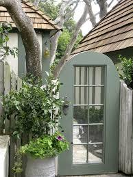 cottage garden gate old french door