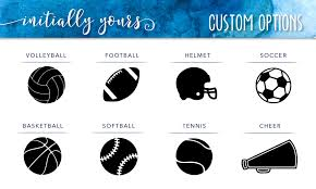 Personalized Sports Yeti Vinyl Decal Initially Yours