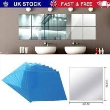 square mirror tiles wall stickers self