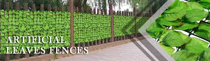 Artificial Leaves Fence One Beautiful Artificial Hedge