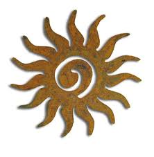 sun garden stake or metal wall art