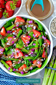 oil free strawberry spinach asparagus