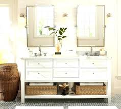 bathroom pivot mirror pottery barn