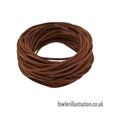 1 roll 90m faux suede leather string