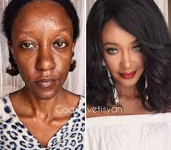 makeup transformation black