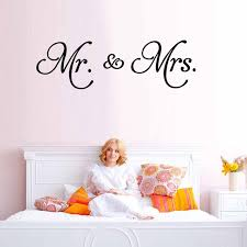 28x91cm Mr Mrs Vinyl Wall Sticker Love Quotes Wall Decal Removable Art Wallpaper For Bedroom Vintage Home Decor Sale Up To 70 Stickersmegastore Com
