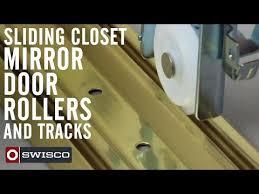 sliding closet mirror door rollers and
