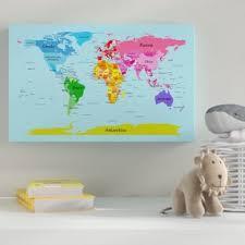 World Map Kids Room Wayfair