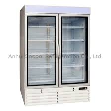china upright glass door freezer