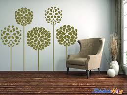 Chrysanthemums Decorative Flowers 3 Floral Wall Decals Graphic Vinyl Sticker Bedroom Living Room Wall Home Decor