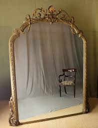 19th c gilded overmantle mirror