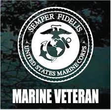 Us Marines Logo Veteran Car Window Decals Stickers Decal Junky