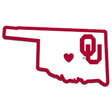Oklahoma Sooners Decal Home State Pride Style Sooners Oklahoma Sooners Team Decal