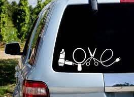 Love Hairdresser Car Decal Etsy