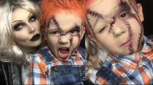 chucky halloween makeup for kids pt 2