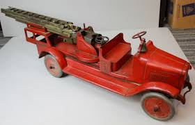 antique buddy l aerial toy fire truck