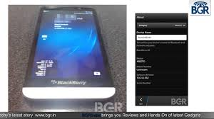 Alleged BlackBerry A10 specifications ...