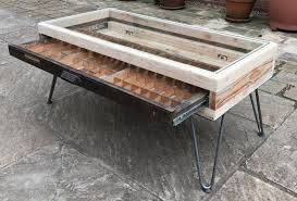 printers tray coffee table glass top