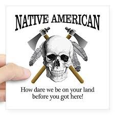 Cafepress Native American Skull Sticker Square Bumper Sticker Car Decal 3 X3 Small Or 5 X5 Large Buy Online In El Salvador Cafepress Products In El Salvador See Prices
