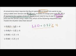 linear inequality word problems