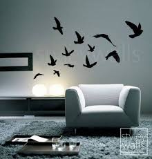 Flying Birds Wall Decal Birds Wall Sticker Flying Birds Set Of 12 Vinyl Wall Decal For Office Home Decor Room Art Flying Birds Sticker Decoracion De Pared Decoracion De Unas Pinturas