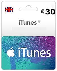 apple 30 itunes gift card uk