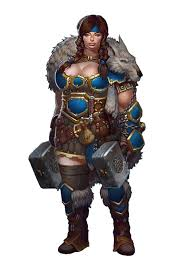 female dwarf ranger or barbarian