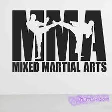 Mma Wall Sticker Taekwondo Kick Play Decal Free Combat Posters Vinyl Striker Wall Decals Decor Mixed Martial Arts Car Decal Wall Stickers Aliexpress