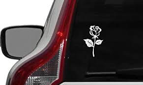 Amazon Com Flower Rose Version 9 Car Vinyl Sticker Decal Bumper Sticker For Auto Cars Trucks Windshield Custom Walls Windows Ipad Macbook Laptop And More White Automotive