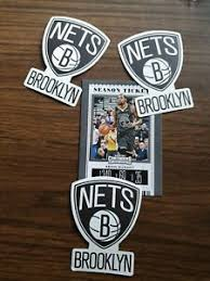 3 Of Brooklyn Nets Themed Car Decal Sticker Basketball Collectable Ebay