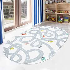Amazon Com Livebox Road Traffic Kids Play Mat 4 X 6 Playroom Area Rug Soft Flannel Children Carpet Great For Educational Fun With Cars And Toys Throw Rug For Living Room Bedroom