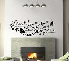 Live Laugh Love Quotes Wall Art Sticker Vinyl Decal Living Room Hallway Decors Ebay