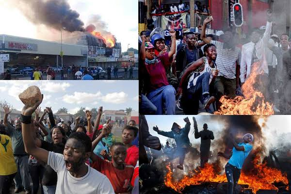 Image result for violent riots south africa""