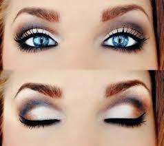 smokey eye makeup for blue eyes you