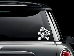 Amazon Com Celycasy Navy Chief Skull And Crossbones Custom Car Truck Van Window Or Bumper Sticker Vinyl Decal Baby