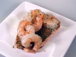 baked salmon with tiger prawns dill