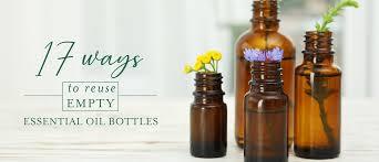 reuse empty essential oil bottles