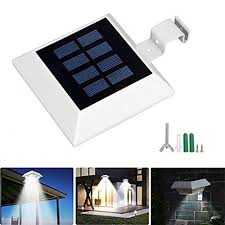 6pcs Cool White Solar Gutter Lights Outdoor Led Solar Fence Lights Waterproof Wall Light Wireless Security Night Light With Screwdriver For Eaves Garden Wall Attic Walkway Driveway Deck Stairs Deck Lights
