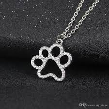 whole dog paw pendant jewelry