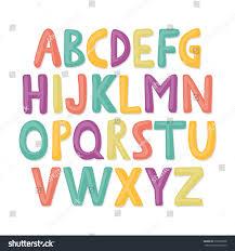Vector De Stock Libre De Regalias Sobre Alfabeto Ingles Dibujado