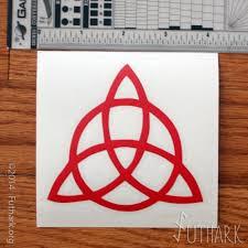 Celtic Trinity Triquetra Vinyl Decal Futhark
