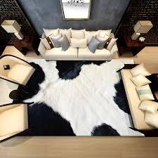 new 3d animal fur area carpet cowhide
