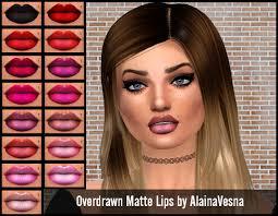overdrawn matte lips by alainavesna