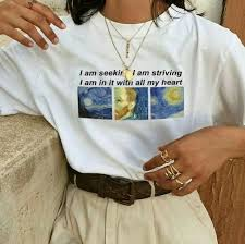 vincent van gogh quote t shirt women casual aesthetic tumblr