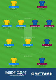 IPL 2020 CSK vs DC MyTeam11 Prediction ...